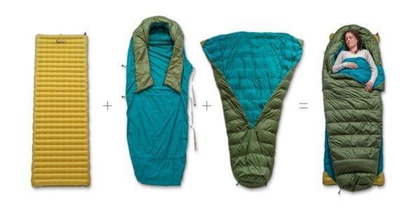 Модульный спальный мешок Zenbivy