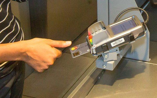 Биометрическая банковская карта от MasterCard