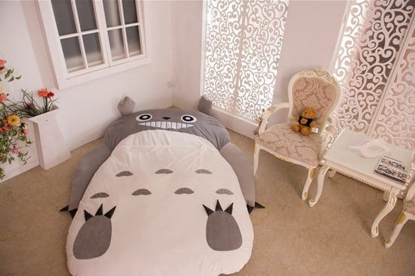 Детский диван-мешок в виде мультяшного Тоторо