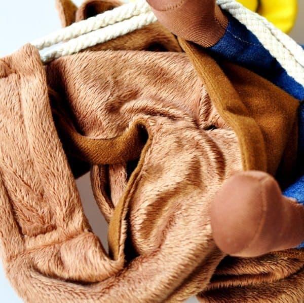 Собачий костюм ковбоя-наездника