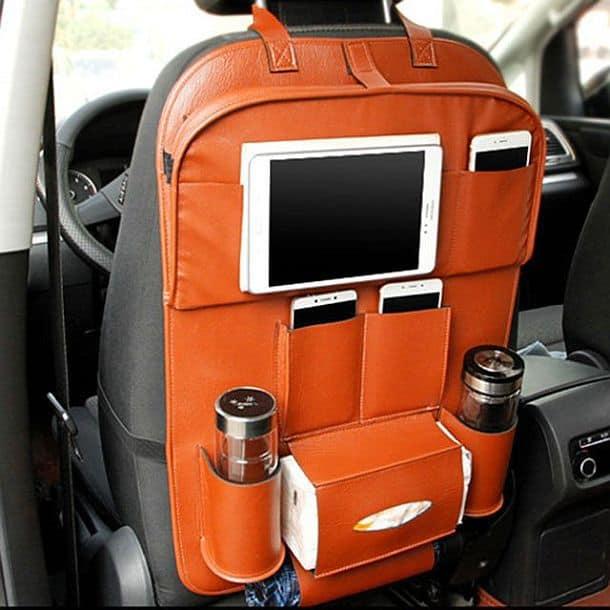 Автомобильный органайзер с откидным столиком