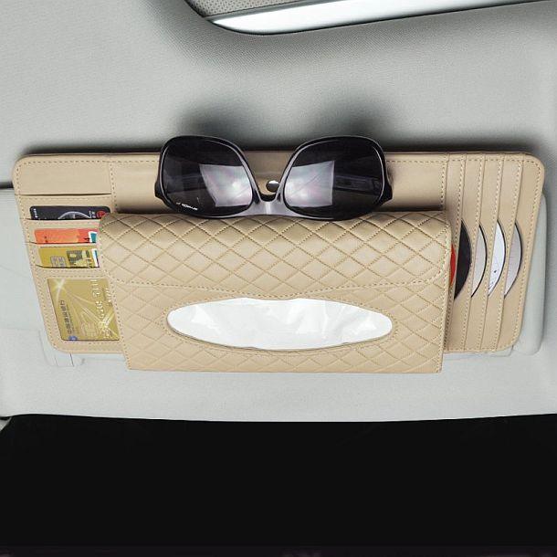 Кожаный органайзер для автомобиля 4 в 1 ChiTronic
