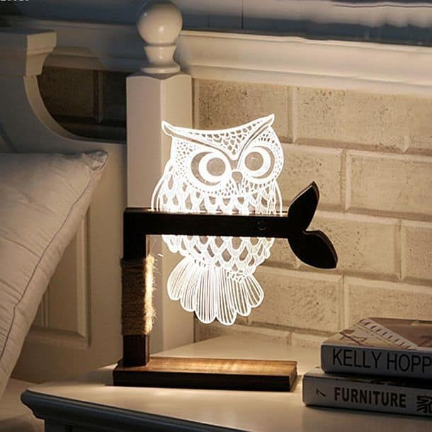 Настольный ночник в форме совы Eshion Home