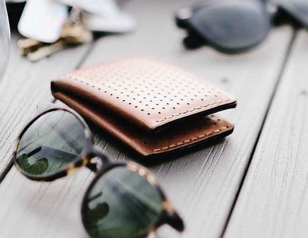 Перфорированный кожаный кошелек Forsta2.0 LTD