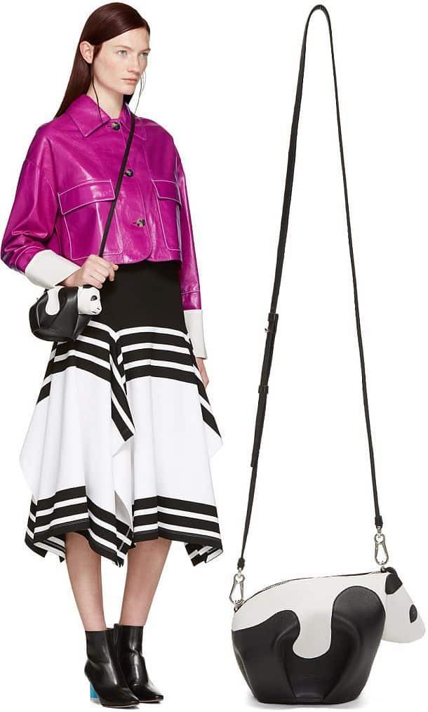 Черно-белая дамская сумочка Mini Panda
