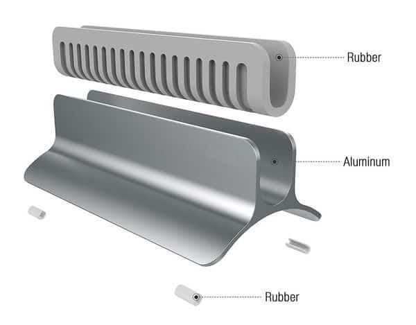 Вертикальная стойка для MacBook из алюминия