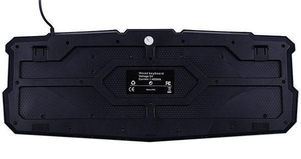 Игровая клавиатура с подсветкой в виде молнии