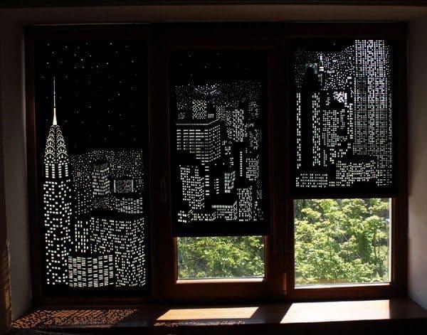 Перфорированные занавески на окна HoleRoll