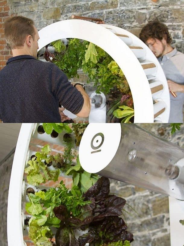 Домашний огород в виде крутящегося колеса OGarden