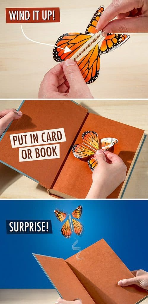 Летающие бабочки-сюрпризы для открыток и буклетов Magic Flyer Butterflies