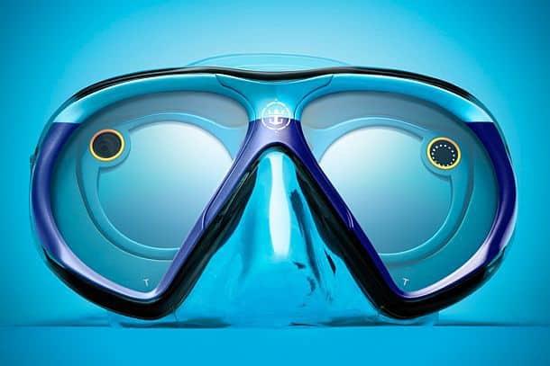Маска для подводного плавания, совместимая с очками для Snapchat