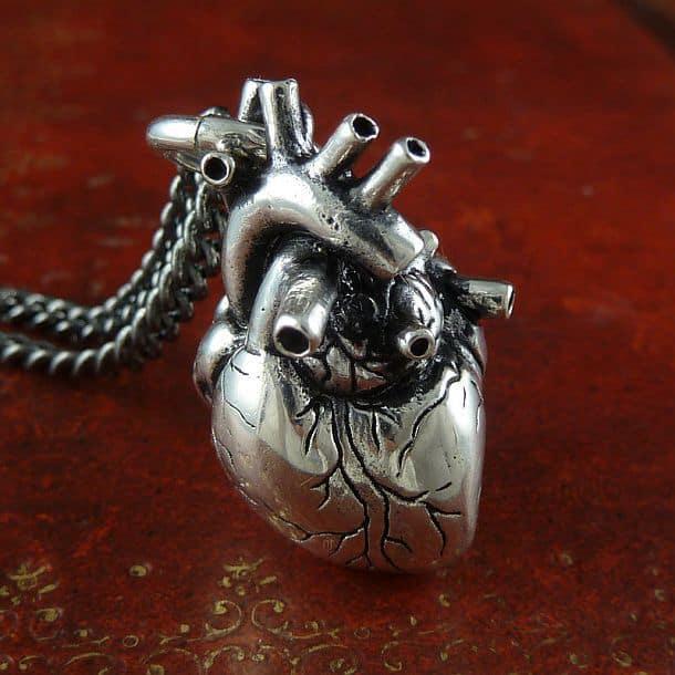 Подвеска в виде анатомически точной модели сердца