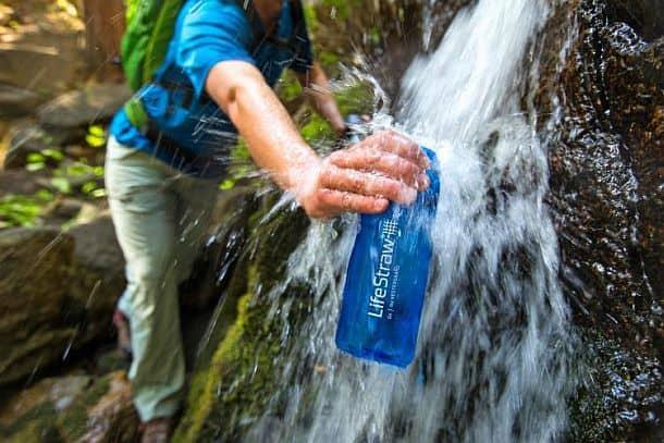 Походная бутылка для воды с фильтром LifeStraw