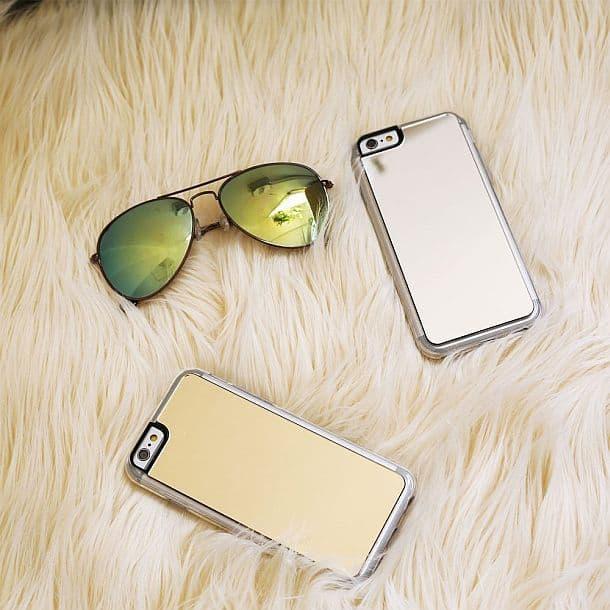 Чехол для iPhone 7 с зеркалом Silver Mirror