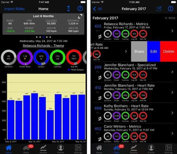 Приложение mPaceLine — специализированный фитнес-трекер для велосипедистов
