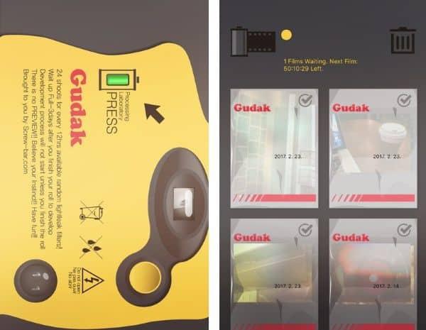 Ностальгическое приложение-имитатор плёночных фотоаппаратов Gudak Cam