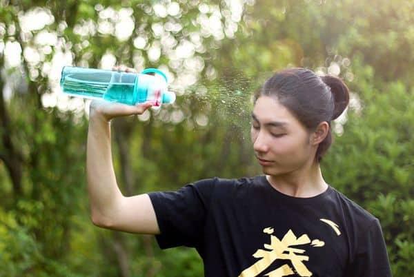 Спортивная бутылка с функцией душа