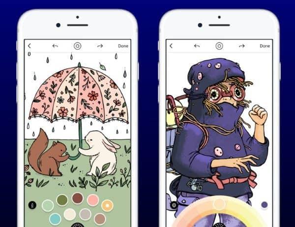 Креативное приложение-раскраска для снятия стресса Lake