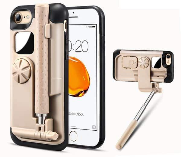 Чехол для iPhone 7 со встроенной селфи-палкой