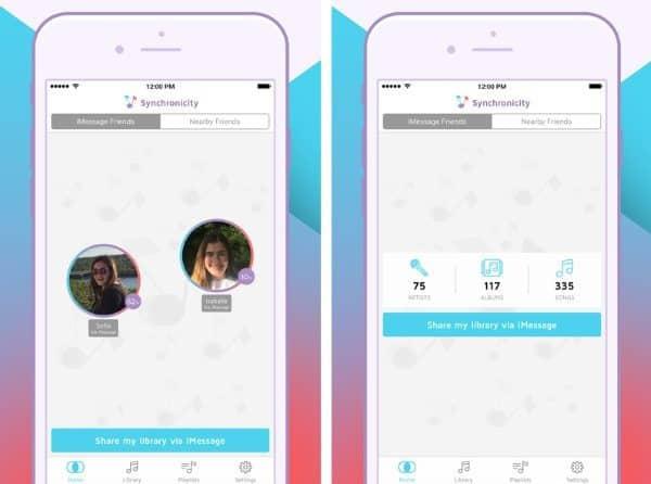Synchronicity - приложение для сравнивания музыкальных коллекций из Apple Music