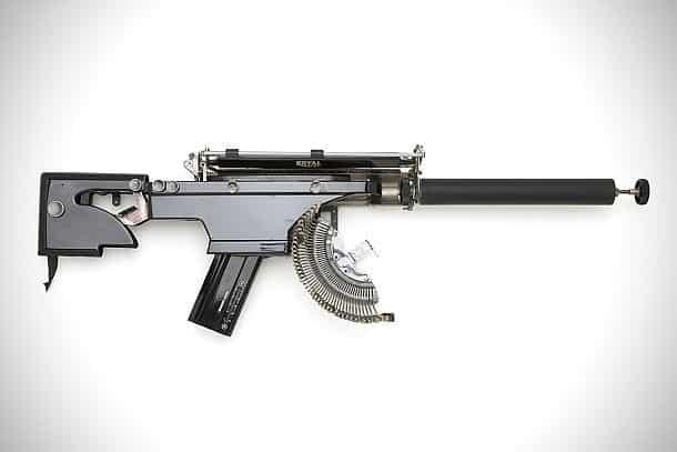 Декоративное оружие из старых печатных машинок Typewriter Guns