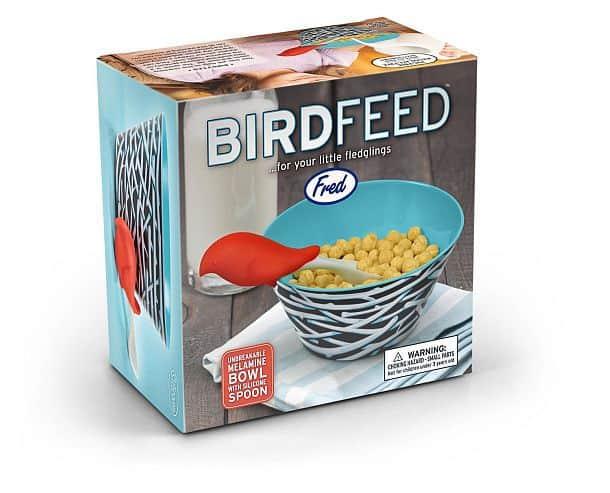 Детские миска и ложка с птичкой от Fred & Friends