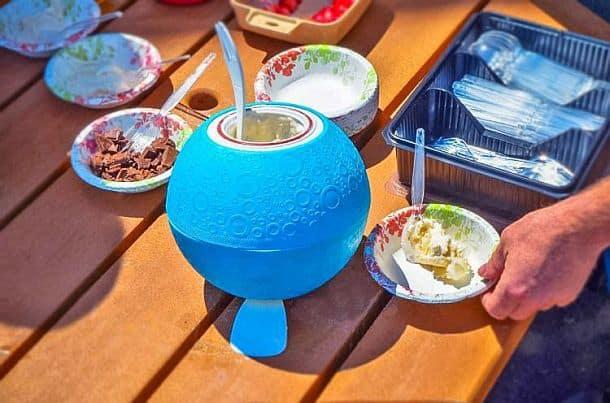 Мяч для приготовления мороженого
