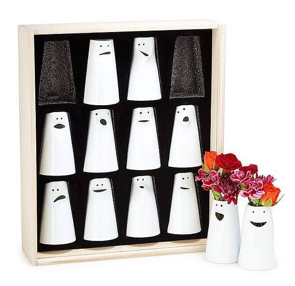 Набор фарфоровых ваз с эмоциями