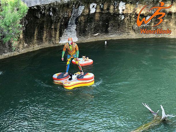 Надувной электрический плот WaterBlade Stingray