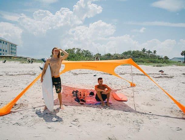 Натяжной пляжный навес Sombra Shade