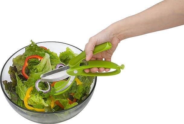 Ножницы для нарезки салатов в миске Trudeau Toss & Chop