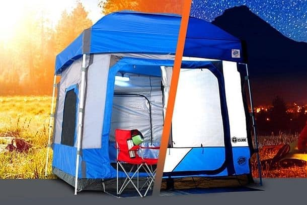 Огромная палатка E-Z Up Camping Cube
