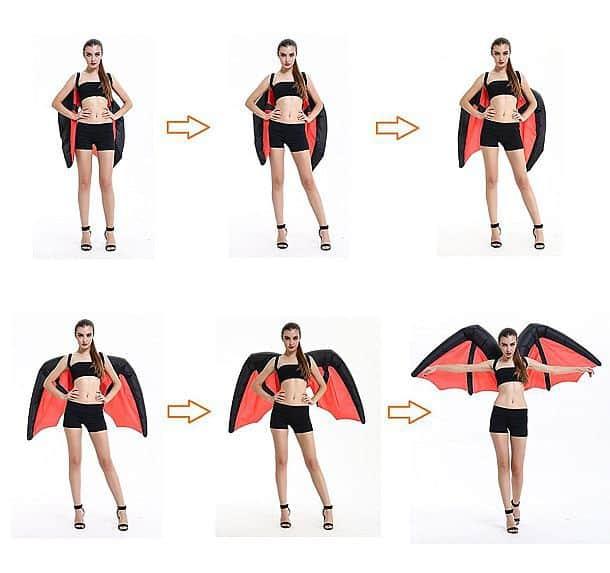 Огромные надувные крылья для костюма летучей мыши