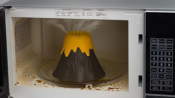 Очиститель микроволновки в виде вулкана