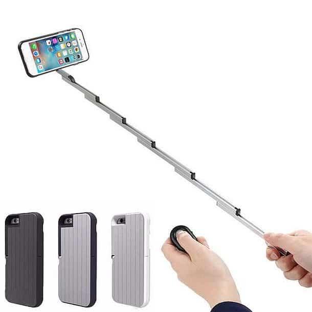 Чехол для iPhone со встроенной селфи-палкой Stikbox 3 in 1