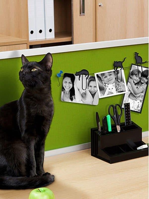 """Набор скрепок """"Чёрная кошка"""""""