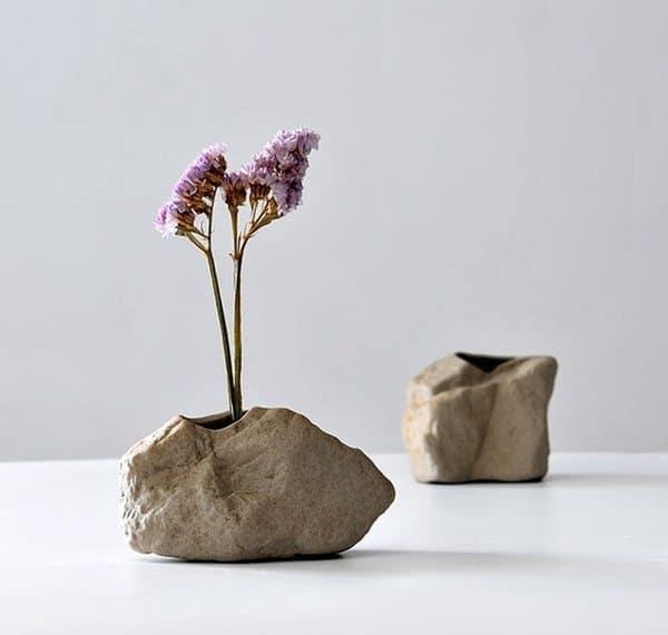 Керамические вазочки в виде камней