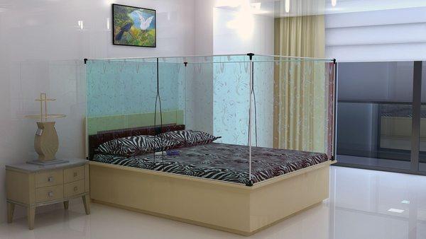 Двуспальная кровать со встроенным эко-кондиционером