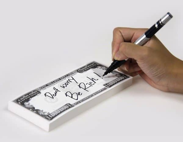 Отрывной блокнот в виде долларовых купюр