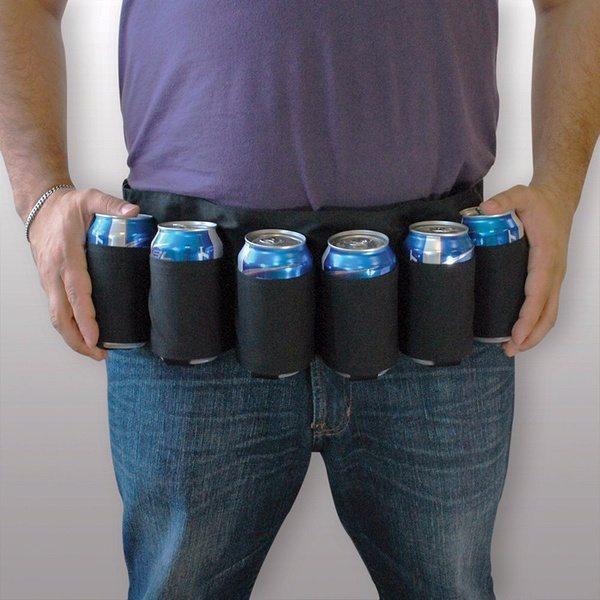 Пояс-патронташ для банок и бутылок