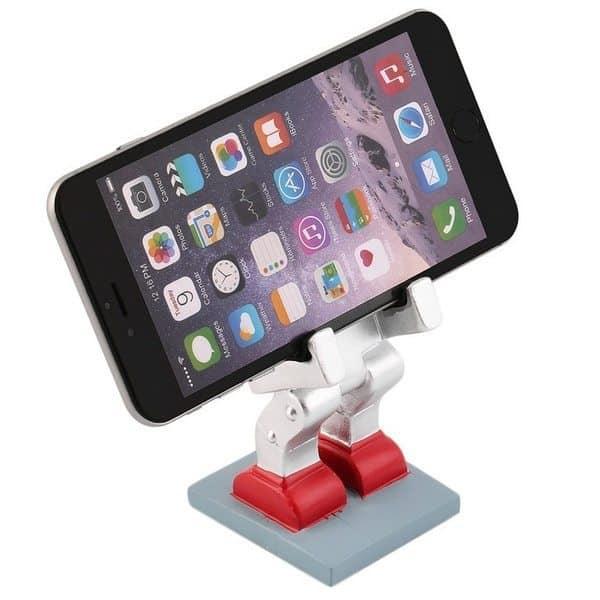 Подставка для смартфона в виде ретро-робота