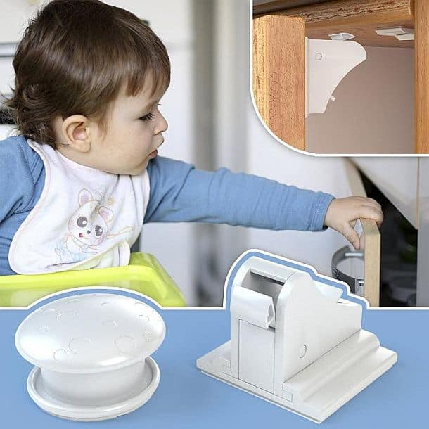 Безопасные для детей магнитные защелки на двери шкафов
