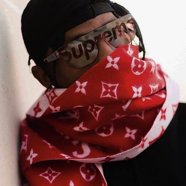 Мужские солнцезащитные очки Louis Vuitton x Supreme Mask