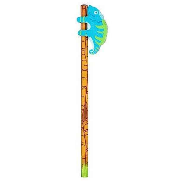 Набор из ластика в форме хамелеона и карандаша