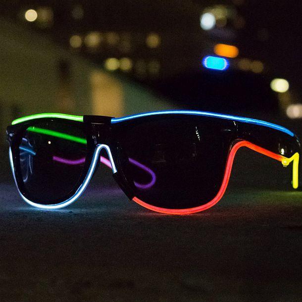 Очки MX1 со встроенным разноцветным светопроводом