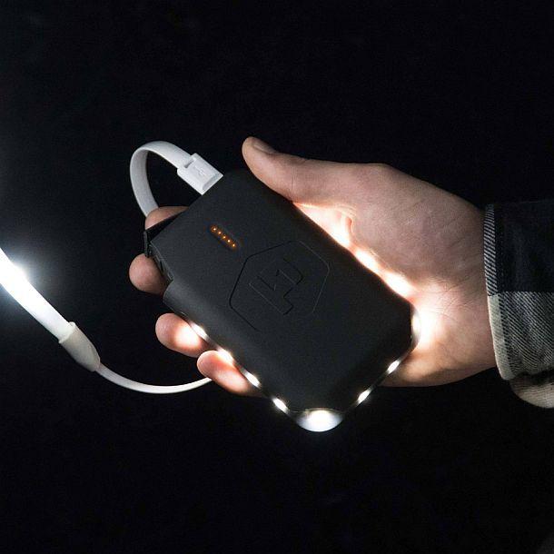 Портативное зарядное устройство Pronto со светодиодной подсветкой