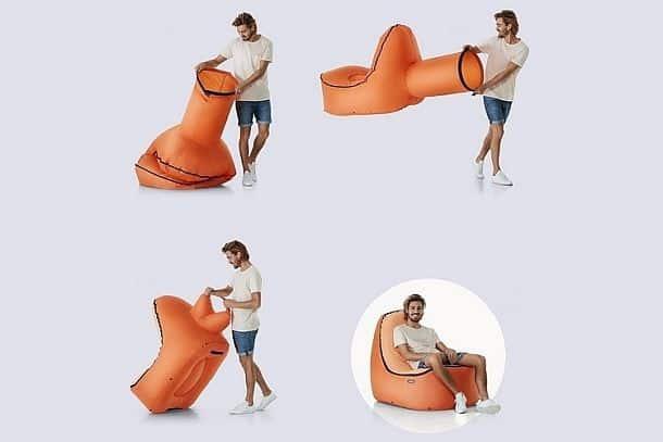 Самонадувающееся кресло-шезлонг Trono