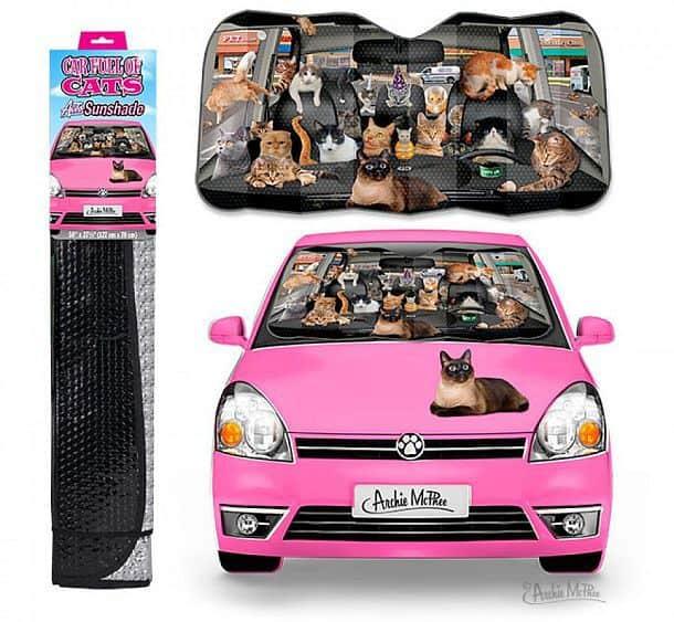 Солнцезащитная шторка на лобовое стекло автомобиля Car Full Of Cats
