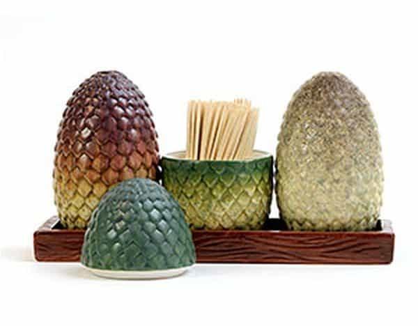 Набор из драконьих яиц для соли, перца и зубочисток