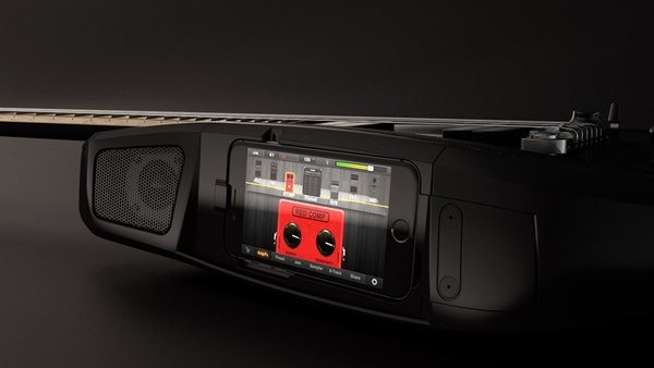 Электрогитара Fusion с доком для iPhone и iPod